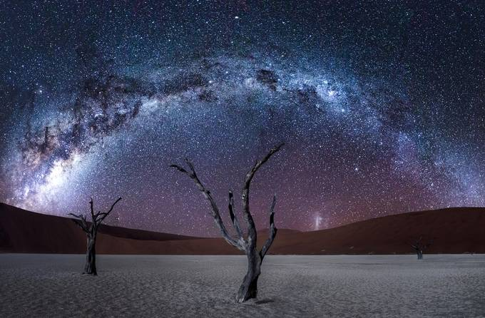Namibia by Night by Mbeiter - Capture The Milky Way Photo Contest