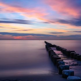Sunset at the Baltic Sea -long exposure shot
