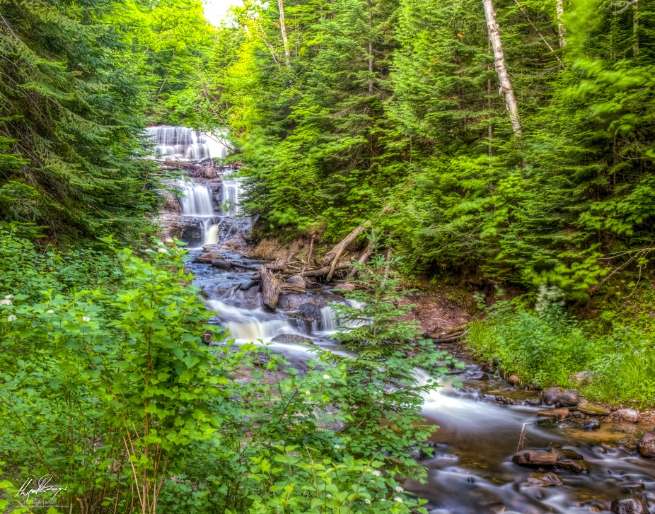 Sable Falls is a waterfall located on Sable Creek in the easternmost portion of the Pictured Rock...