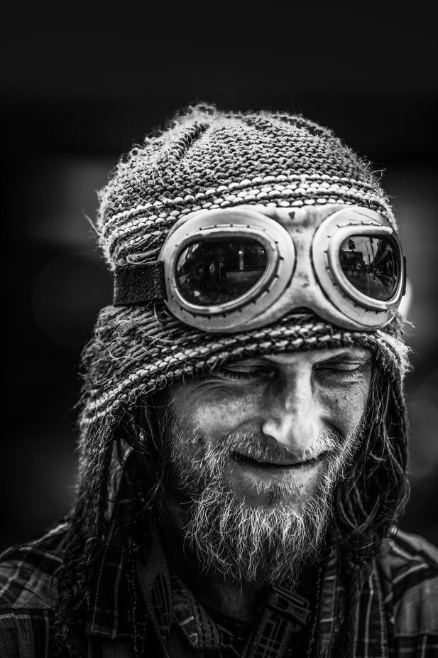 Happy with the rhythm of his music by MBphotographybiz - Our World In Black And White Photo Contest