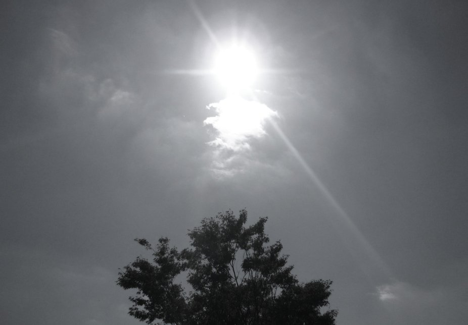Above us, the Sun