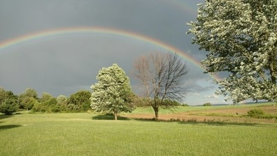 Rainbow over Scottdale,Pa