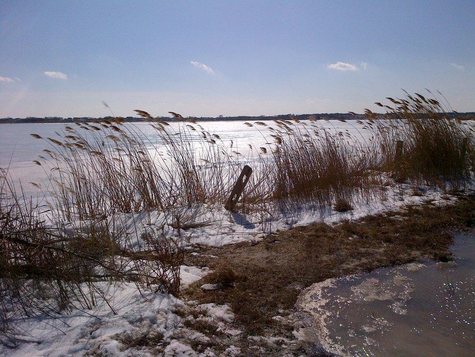 Frozen Barnegat Bay