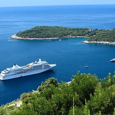 Silversea's Whisper anchored at Dubrovnik!