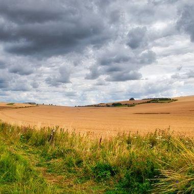 Stormy landscape near Bratton