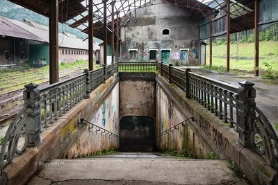 Abandoned Canfranc International Railway Station - French pier -Underpass