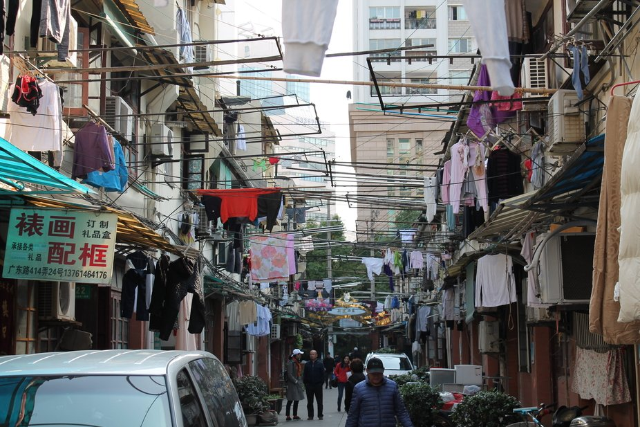 """Captured in an """"off main street"""" neighborhood in Shanghai China. A small enclav..."""