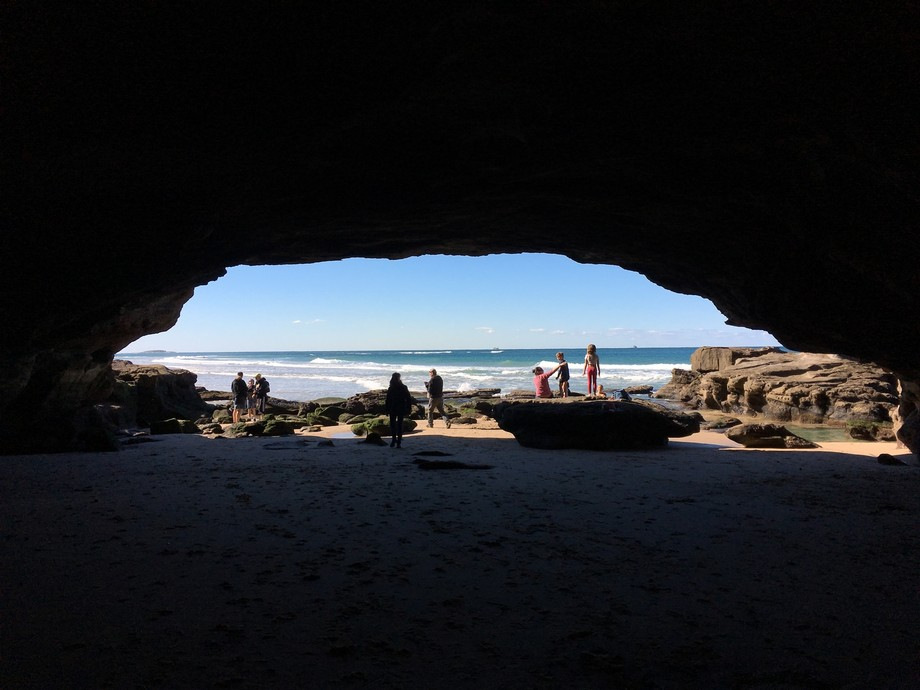 Taken from the inside of the caves at Caves Beach NSW