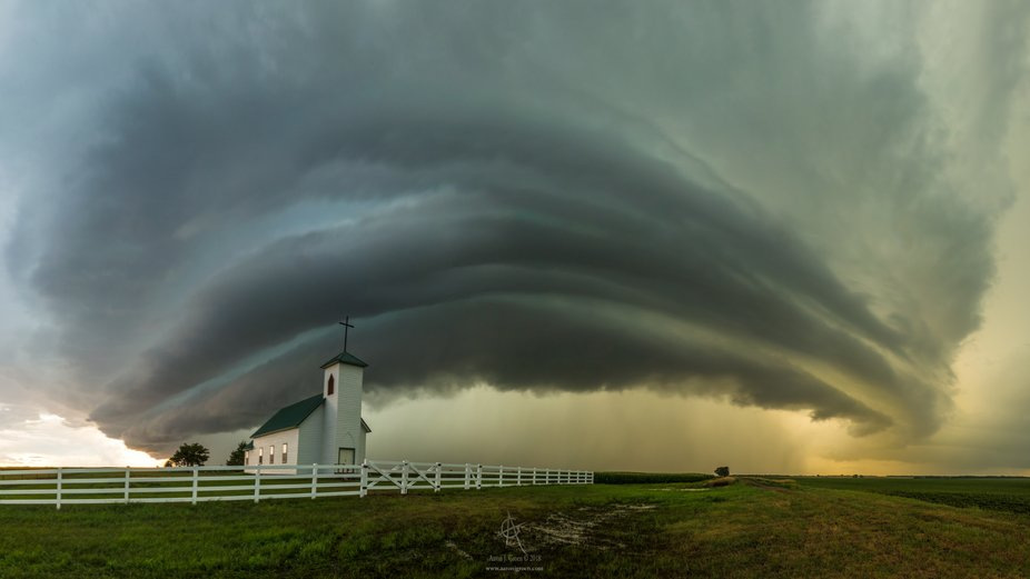 HOLY Supercell Saint Procopius Church and Supercell  south of Pukwana, South Dakota  July 18th 2...