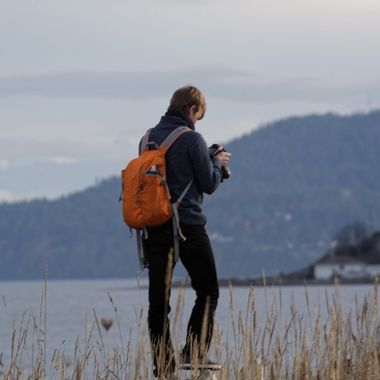 This is my son, a gifted photographer, checking a shot during one of our trips to Vancouver Island and Victoria, BC.
