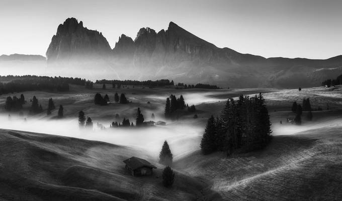 Alpe di Siusi by alekrivec - Our World In Black And White Photo Contest