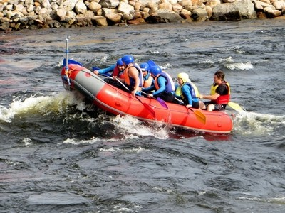 Kinds of Water sports. Rafting on the raft. Losevskiy threshold, Losevo (formerly Kiviniemi). Leningrad region, St. Petersburg. 20x zoom. Photo 12.