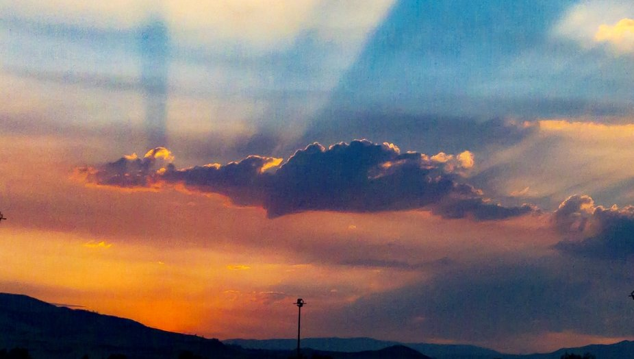The sky was so beautiful on my way to Reno for a ballgame that I had to stop in the emergency lan...