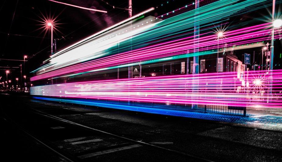 Tram light zoom effect