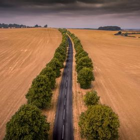 Tried out a phantom 4 drone for the first time today and came out with this aerial shot of a famous road in the Vale of Belvior