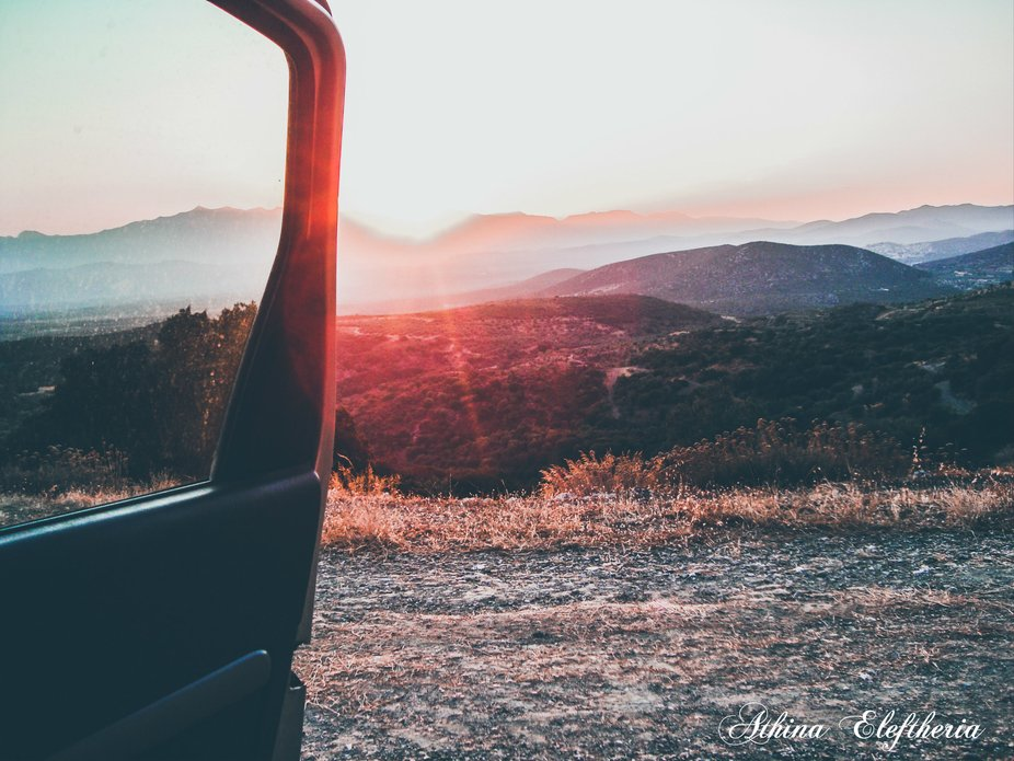 ..as I chase the sun by AthenaEl - Summer Road Trip Photo Contest