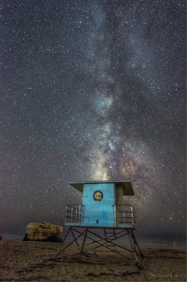 Milky Way in Santa Cruz California by Suzbgd - The Blue Color Photo Contest 2018