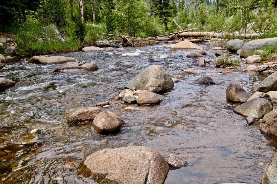 High mountain clear crisp clean water