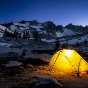 The Enchantments are located just outside of Leavenworth in the Stuart Range. This camp was up at 7,400 ft and had a beautiful backdrop. This pic...