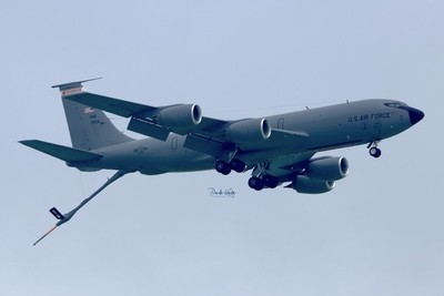 Wisconsin Air National Guard Refueling Jet with Landing gear Down (KC-135 Stratotanker)