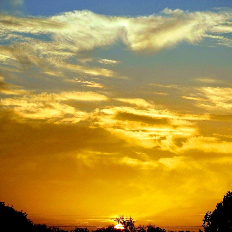 Sunrise in Lampasas, Texas.