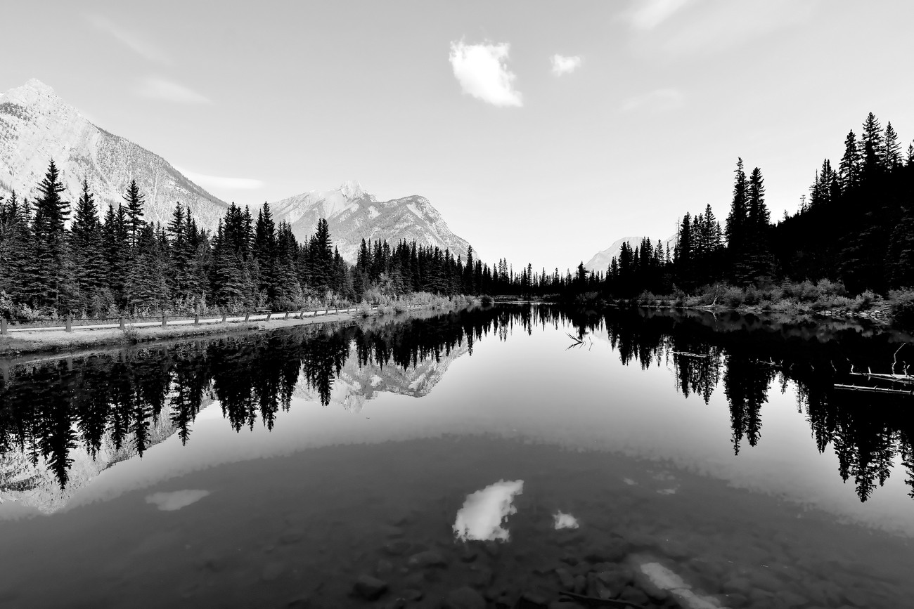 Lorette Pond, Alberta, Canada Reflection of Mountain
