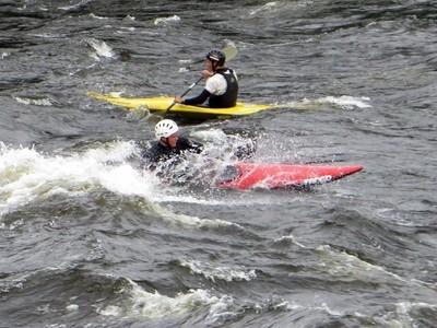 Kinds of Water sports. Kayak. Losevskiy threshold, Losevo (formerly Kiviniemi). Leningrad region, St. Petersburg. 20x zoom. Photo 17.