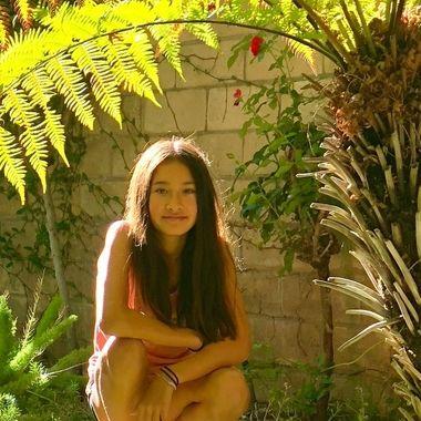 Girl in secret garden!