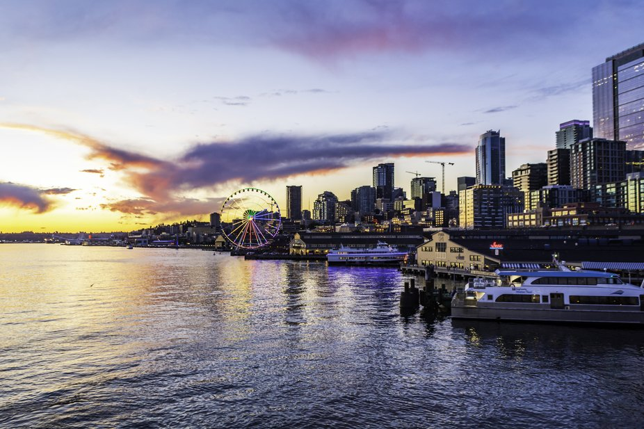 Sun Set Over Seattle