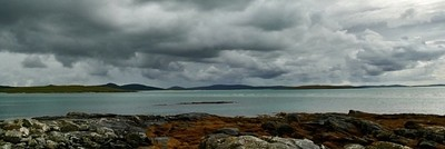 Stormy skyies on the island of Berneray outer hebridies x