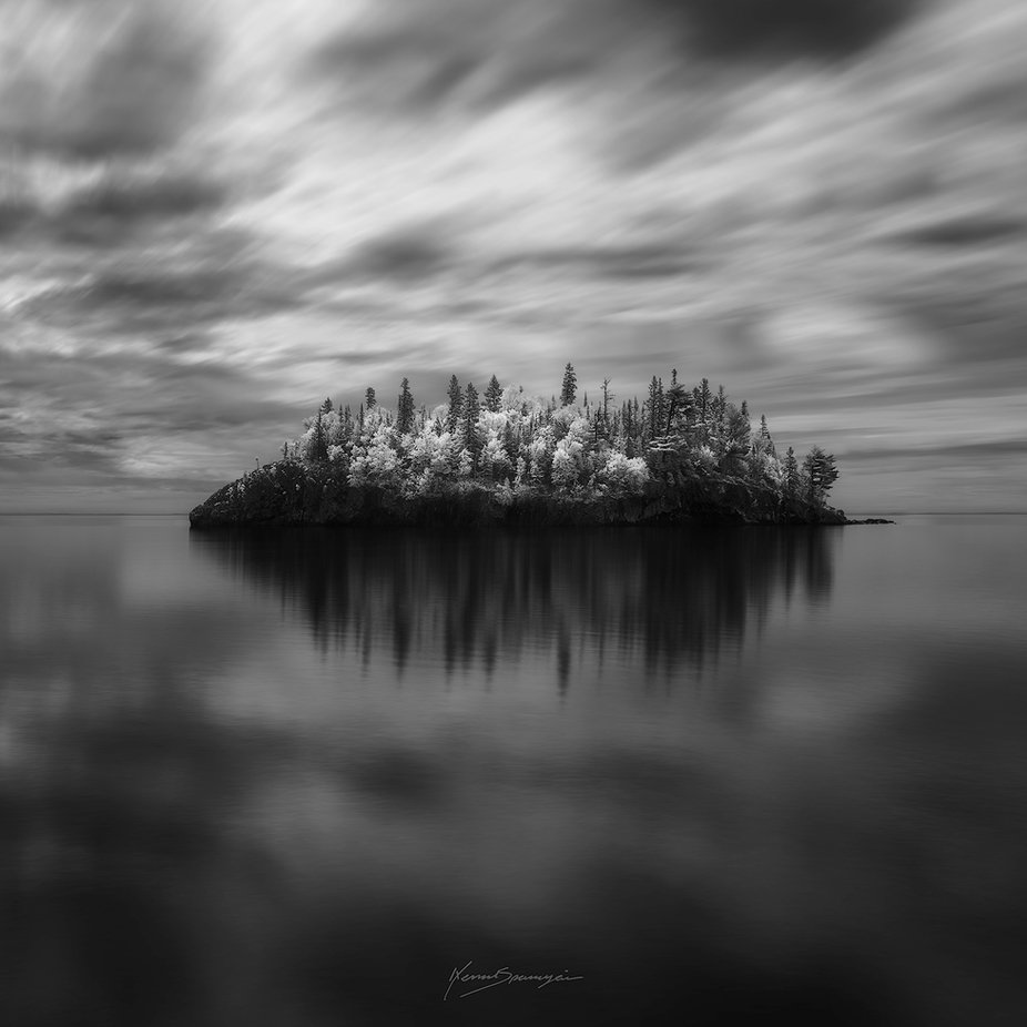 MADONNA OF THE LAKE by nenadspasojevic - Our World In Black And White Photo Contest