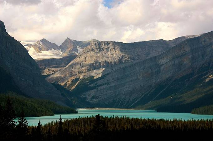 Photo of Lake Loraine in Canada.