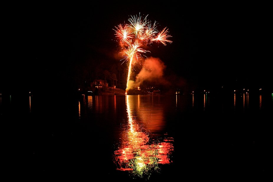 Fireworks on the Tennessee River