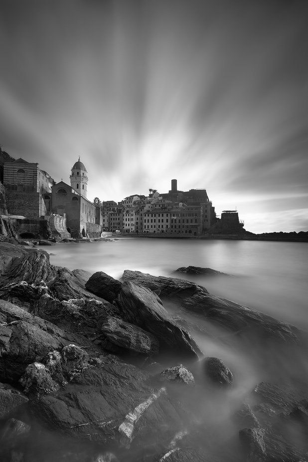 Vernazza in b&w by carmenioneanu - Our World In Black And White Photo Contest