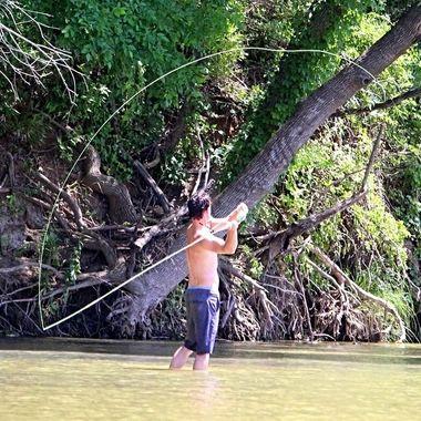 Flyfishing summer fun