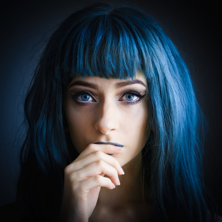 Alisha - Blue by SixByFour - Image Of The Month Photo Contest Vol 35