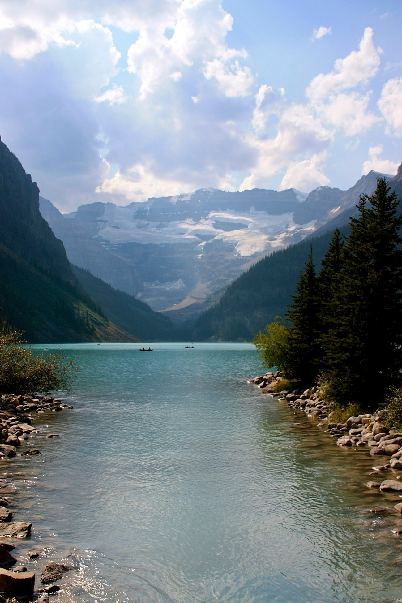 This is a water inlet into Lake Louise, Canada.