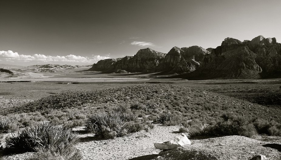 I really liked this view of the rolling low lands and the mountains at Red Rock State Park outside of Las Vegas, NV.