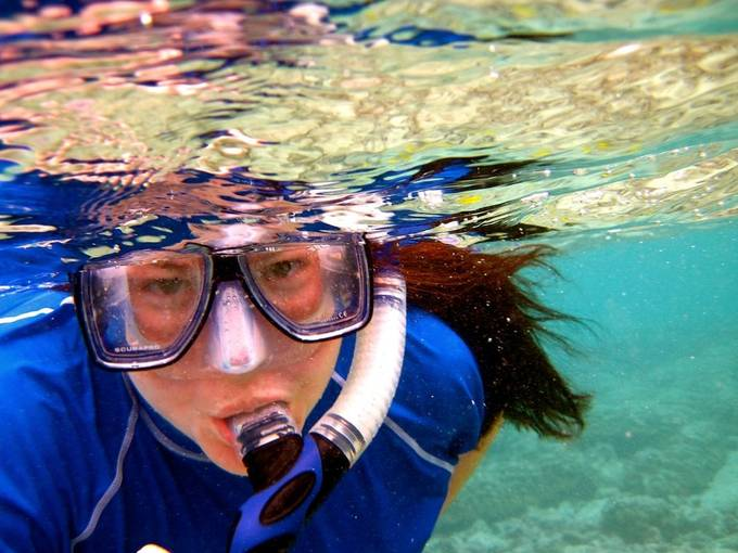 My first time taking underwater photos was super fun! This was also my first and only underwater selfie.