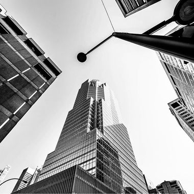 The skyscraper establishes the block, the block creates the street, the street offers itself to man. BLACK AND WHITE