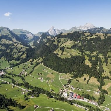 View from my Paraglider during a nice flight today from Wispile to Gstaad