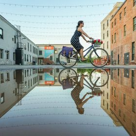 When the worlds of biking and puddles collide.