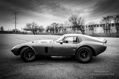 Sunrise Simeone Demo Days 1964 Shelby Cobra Daytona Coupe CSX2287 BW (4824) - Simeone Museum Philadelphia, PA 3-25-2017.