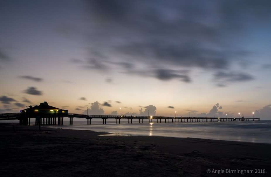 Bob Hall pier at sunrise