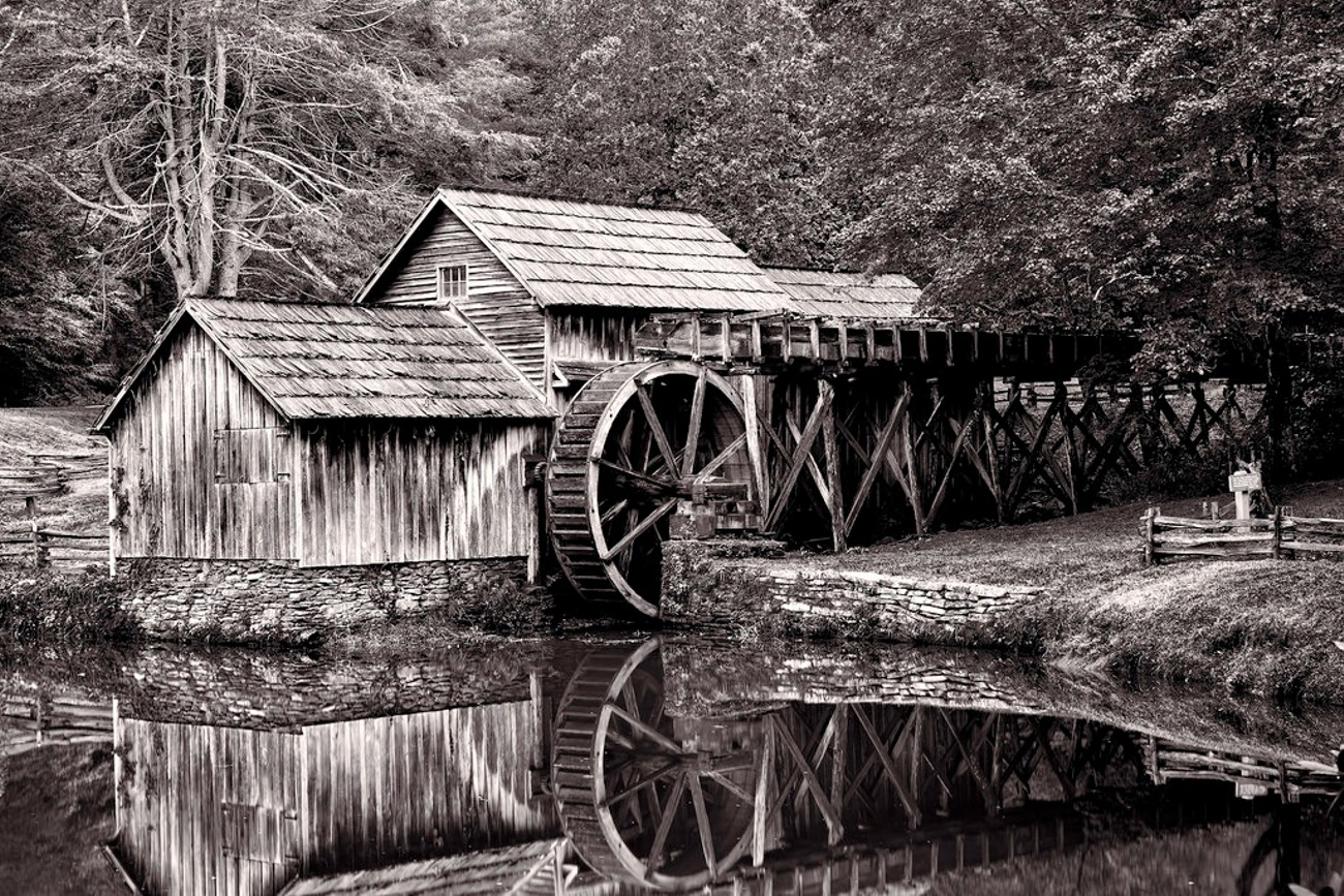 Mabry Mill in the Mirror