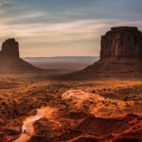 A sight of the Monument Valley at dawn