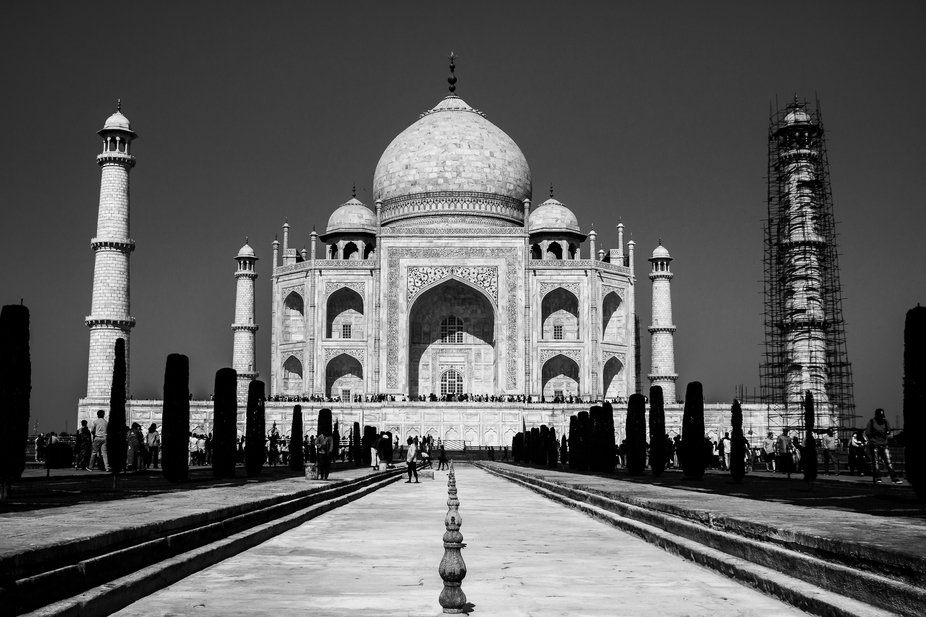 Beautiful piece of Mughal Architecture in India. Taj Mahal which is made of complete white marble...