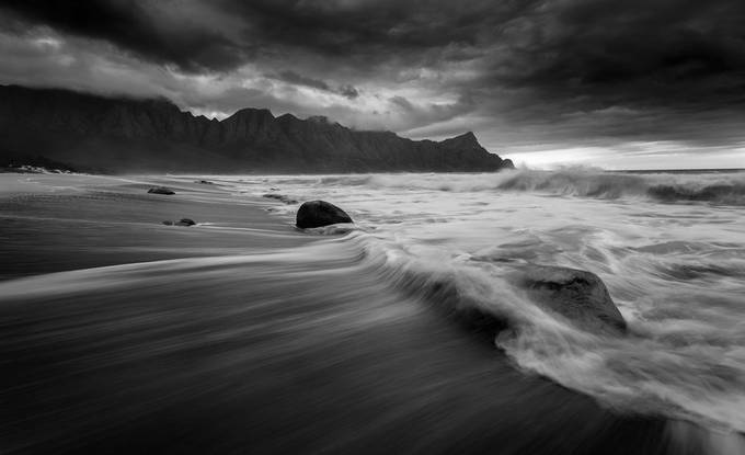 Stormy Beaches by Bertus_ZA - Our World In Black And White Photo Contest