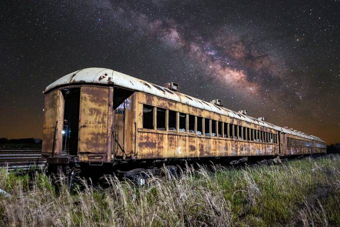 Night Train - Texas Coast by jfischerphotography - All About Trains Photo Contest