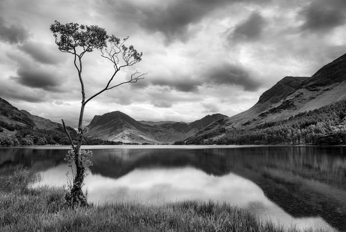 Buttermere B&W - Lake District, UK by jfischerphotography - Our World In Black And White Photo Contest